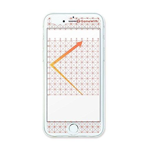 GameWith 監修 グリッドケース iphone7用 レッド スマホケース