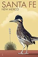 Santa Fe、新しいメキシコ–roadrunner–リトグラフ 16 x 24 Signed Art Print LANT-78445-709