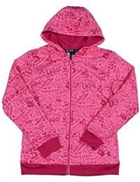 アンダーアーマーガールズUAロゴFull Zip Graphic hoody-pink-large