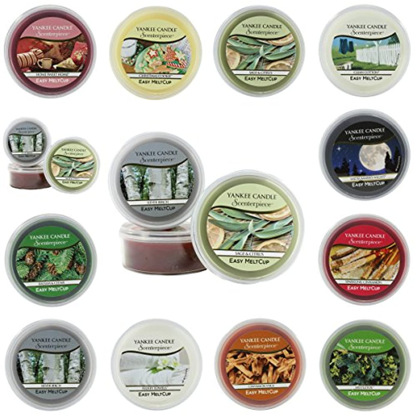 Yankee Candle Large 22-ounce Jar Candle、ヤドリギ Scenterpiece Easy MeltCups 1316943E