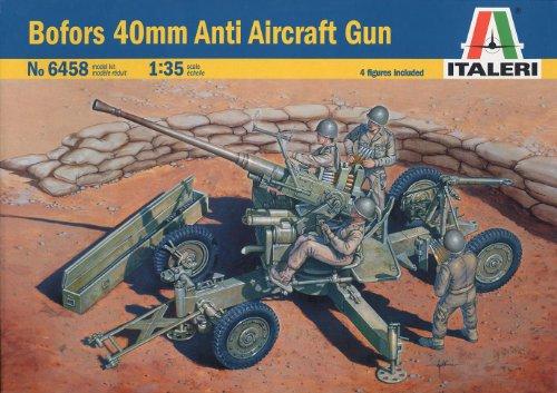 ボフォース 40mm対空機関砲 38458 (タミヤ イタレリ 1/35 ミリタリーシリーズ 6458)
