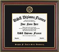 スティーヴン・F。オースティン大学卒業証書フレーム–チェリーマホガニーwithブラックスエードマット