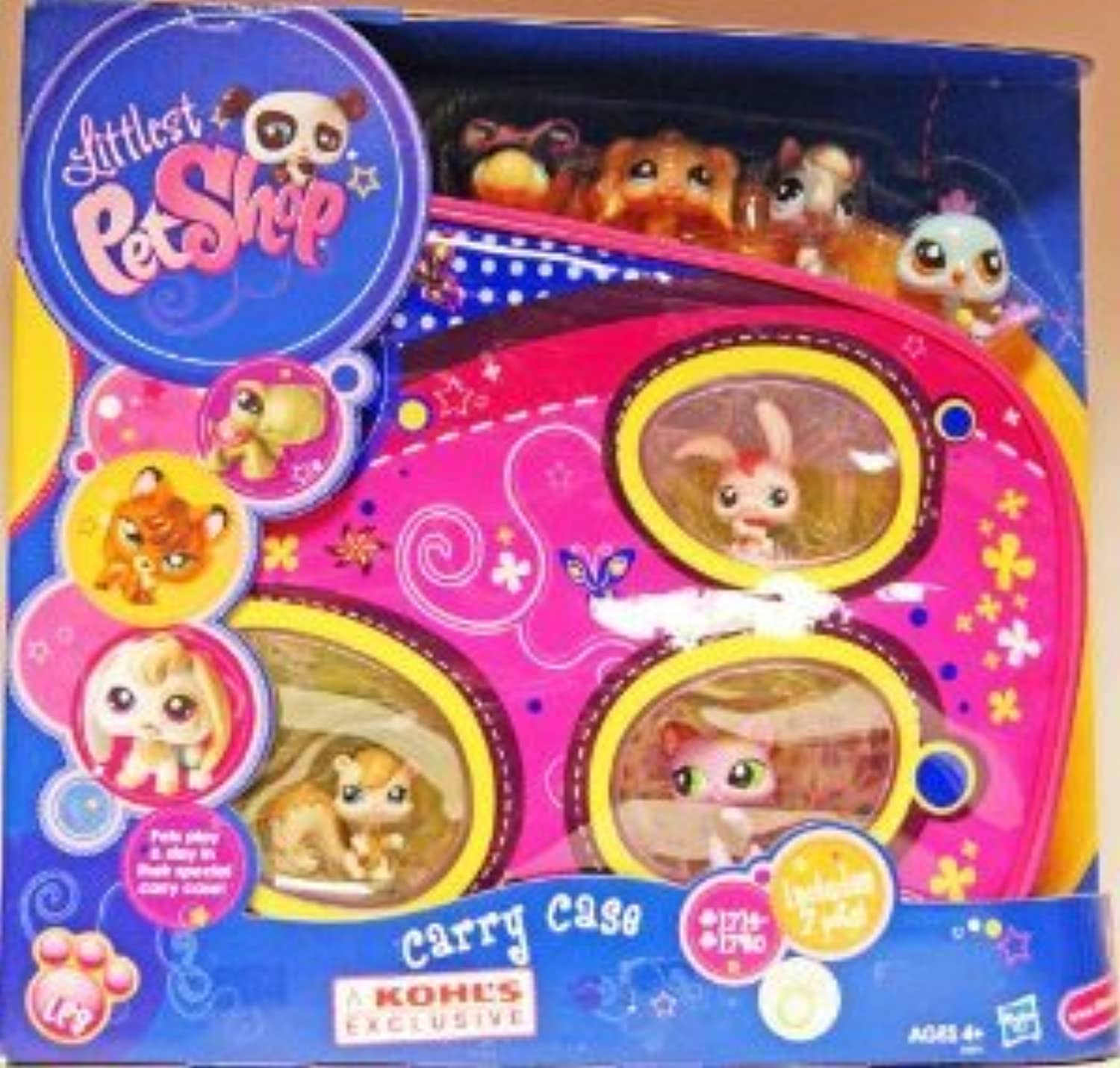 Kohl's Exclusive Littlest Pet Shop (リトルペットショップ) Pink Carry Case with Seven Pets(並行輸入)