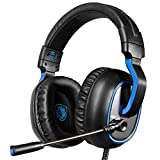 High Quality R4 gaming headset for New Xbox One, PS4 controller,3.5mm wired Over-ear Noise Cancelling Microphone Volume Control for Mac / PC/ Laptop / PS4/Xbox one(Black)