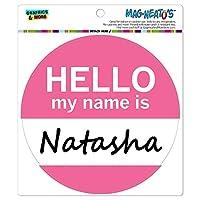 ナターシャこんにちは、私の名前は - サークル MAG-格好いい'S(TM)カー/冷蔵庫マグネット