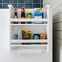 QING MEI クリエイティブな冷蔵庫側のラックのストレージラックの台所のストレージラックのラックの壁掛け多機能スパイスラック (サイズ さいず : 2 layers)