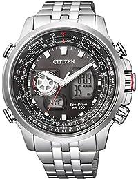 [シチズン]CITIZEN 腕時計 PROMASTER プロマスター エコ・ドライブ スカイシリーズ ワールドタイム アナデジ 多機能モデル JZ1061-57E メンズ