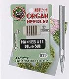 オルガン 〔HA×1EB 型番:11〕ミシン針刺しゅう用針HA×1EB家庭用5本入