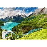 PigBangbang,20.6 X 15.1インチ、ジグソーグル付き難しいパズル プレミアム木製 - 美しい自然の景色 緑の木 湖 川 雲 - 500ピース ジグソーパズル