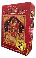 エンボスReligious値Assortment–Designer Greetingsボックス24の宗教クリスマスカード