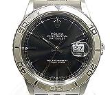 ROLEX ロレックス デイトジャスト サンダーバード Ref.16264 Y番 SS×K18WG ブラック文字盤 メンズ腕時計【中古】[wa]