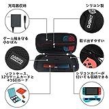 [Nintendo Switch ケース 任天堂スイッチアクセサリーキット] EVAセミハード 旅行スイッチケース/Joy-Conシリコンカバー/液晶保護フィルム2枚/スイッチソフトカードケース2個