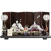 雛人形 親王平飾り【白向鶴】[193to1019] 伝統工芸品 雛祭り