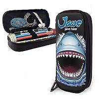 IKATE-P ジョーズ JAWS ペンケース 革 レザー 筆箱 大容量 ペン立て おしゃれ ファスナータイプ 防水 耐久性 子供 学生 文具収納 通用文具 収納 プレゼント