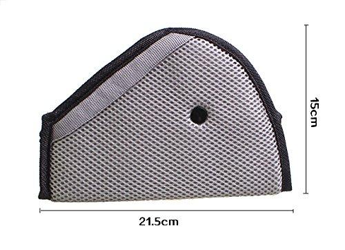 シートベルト枕シートベルトパッド シートベルトサポーター シートベルト調整パッド シートベルトカバー 取り付け簡単3歳以上の子供用セット (グレー)