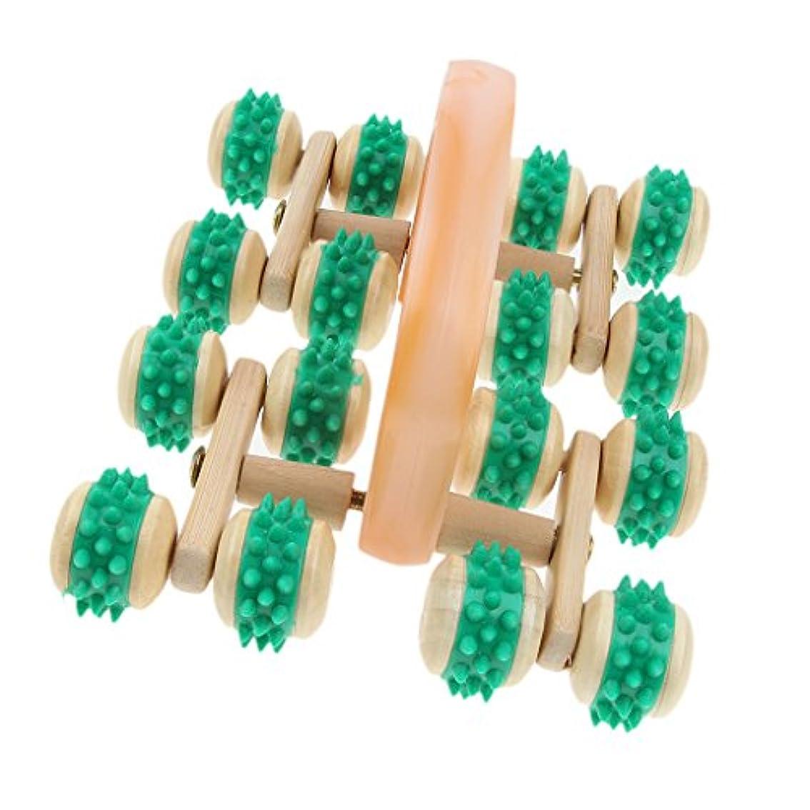 噴出する先生美しいchiwanji トリガーマッサージ マッサージローラー ポイントマッサージ 16本スパイクホイール 筋膜リリース