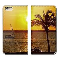 (ティアラ)Tiara Galaxy Note9 SC-01L スマホケース 手帳型 ベルトなし 観光船 ヨット 船舶 ボート 海 手帳ケース カバー バンドなし マグネット式 バンドレス EB283020105303
