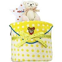 mikihouse(ミキハウス) 使用 出産祝い 日本製 おむつケーキ 今治タオル パンパース テープタイプ Mサイズ くまのぬいぐるみ 付 imabari towel イエロー 男の子でも女の子でも 男女兼用