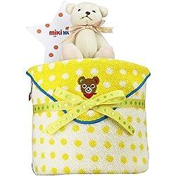 mikihouse(ミキハウス) 出産祝い 日本製 おむつケーキ 今治タオル パンパースS くまのぬいぐるみ 付 imabari towel イエロー 男の子でも女の子でも 男女兼用