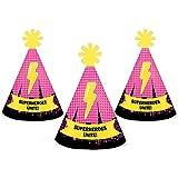 Bam 。ガールズスーパーヒーロー – Mini円錐ベビーシャワーまたは誕生日パーティー帽子 – スモールLittle Party Hats – 10のセット