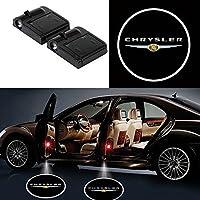 Alichee LED ドアカーテシランプ レーザーロゴライトドアウェルカムライト カーテシライト 2件套 (Chrysler)