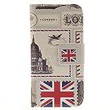 Apple iPod touch 5 / touch 6 兼用 手帳型デザインケース ( iPod touch5/6 アイポッドタッチ 第5世代?第6世代 5th 6th 対応 ) 画面保護 / スタンド / ICカード収納 PU leather Wallet Case (PUレザー&TPUソフト)【LONDON (ロンドン)】