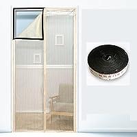 磁気スクリーン ドア蚊をホーム, フルフレーム velcro 画面ドア メッシュ夏寝室大型メッシュ スクリーン スナップが自動的にシャット ダウン-B 130x220cm(51x87inch)