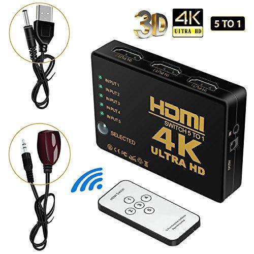HDMI切り替え 切替器 5入力1出力 hdmi セレクター...