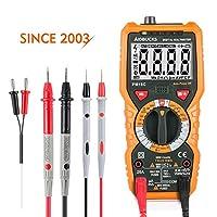 AIDBUCKS PM18C デジタルマルチメーター 電流 電圧 抵抗テスター 温度計 周波数 テスター デジタル 交流