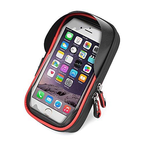 【INVAVO】自転車ホルダー 防水 防塵スマホ・iPhoneムバッグ 強力固定用マウントキット スマートフォンホルダー 360度回転 多機種対応Andriod/iPhone/GPS 小物収納付き