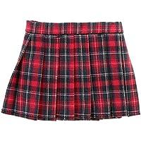 Lovoski  人形 可愛い チェック柄 プリーツ  ミニ スカート  ドレス 1/6スケール BJDドール用