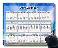 2019カレンダーマウスパッド、新年マウスパッド、星空アートゲーミングマウスパッド