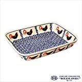 Zaklady Ceramiczne Boleslawiec/ザクワディ ボレスワヴィエツ陶器 グラタン皿(スクエア)-1090-ポーリッシュポタリー
