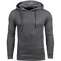 YuKaiChen Men's Casual Pullover Hoodies Midweight Fleece Hooded Sweatshirt