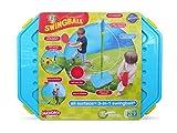 Mookie Swingball 3イン1 ポータブルゲームセット - テザーボール バスケットボール サッカー
