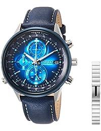 [ワイアード]WIRED 腕時計 WIRED クロノグラフ SONY wenaコラボ 青文字盤 10気圧防水 AGAW713 メンズ