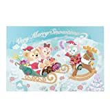 ポストカード ダッフィー シェリーメイ ジェラトーニ ダッフィーのクリスマス2016 絵葉書 【東京ディズニーシー限定】 X'mas Duffy