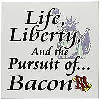 Dooni Designs面白いとユーモアデザイン–Funny Life Liberty and the Pursuit ofベーコンFoodユーモアデザイン–グリーティングカード Set of 12 Greeting Cards