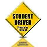 Zento Deals Reflective Student Driver Please Be Patient磁気Sign