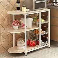 ダイニング・キッチン家具 多機能キッチンラック電子レンジオーブン棚フロアキッチン家電棚棚 ( 色 : Style-2 )