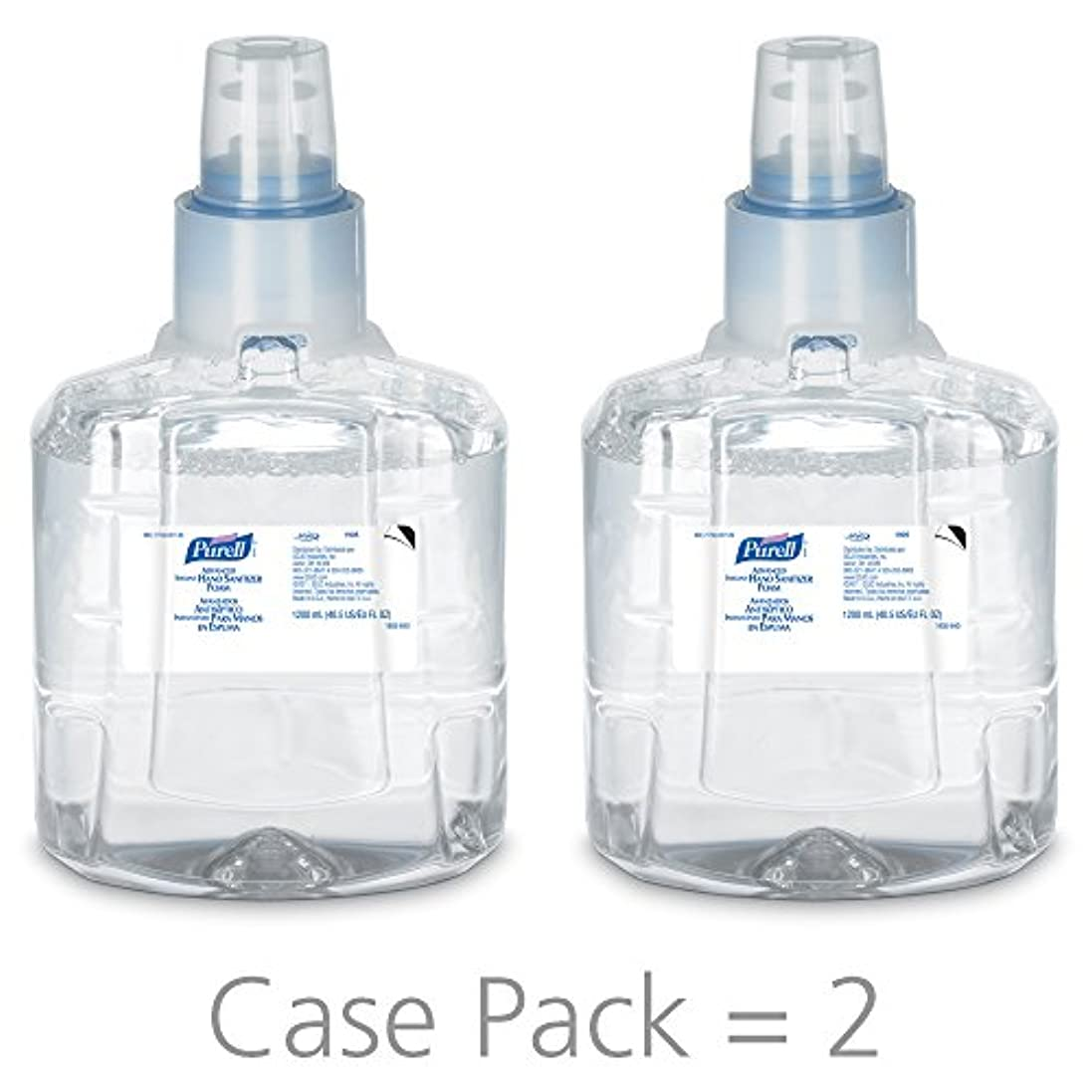 ジョガースタジオフックPURELL 1905-02 1200 mL Advanced Hand Sanitizer Foam, LTX-12 Refill (Pack of 2) by Purell