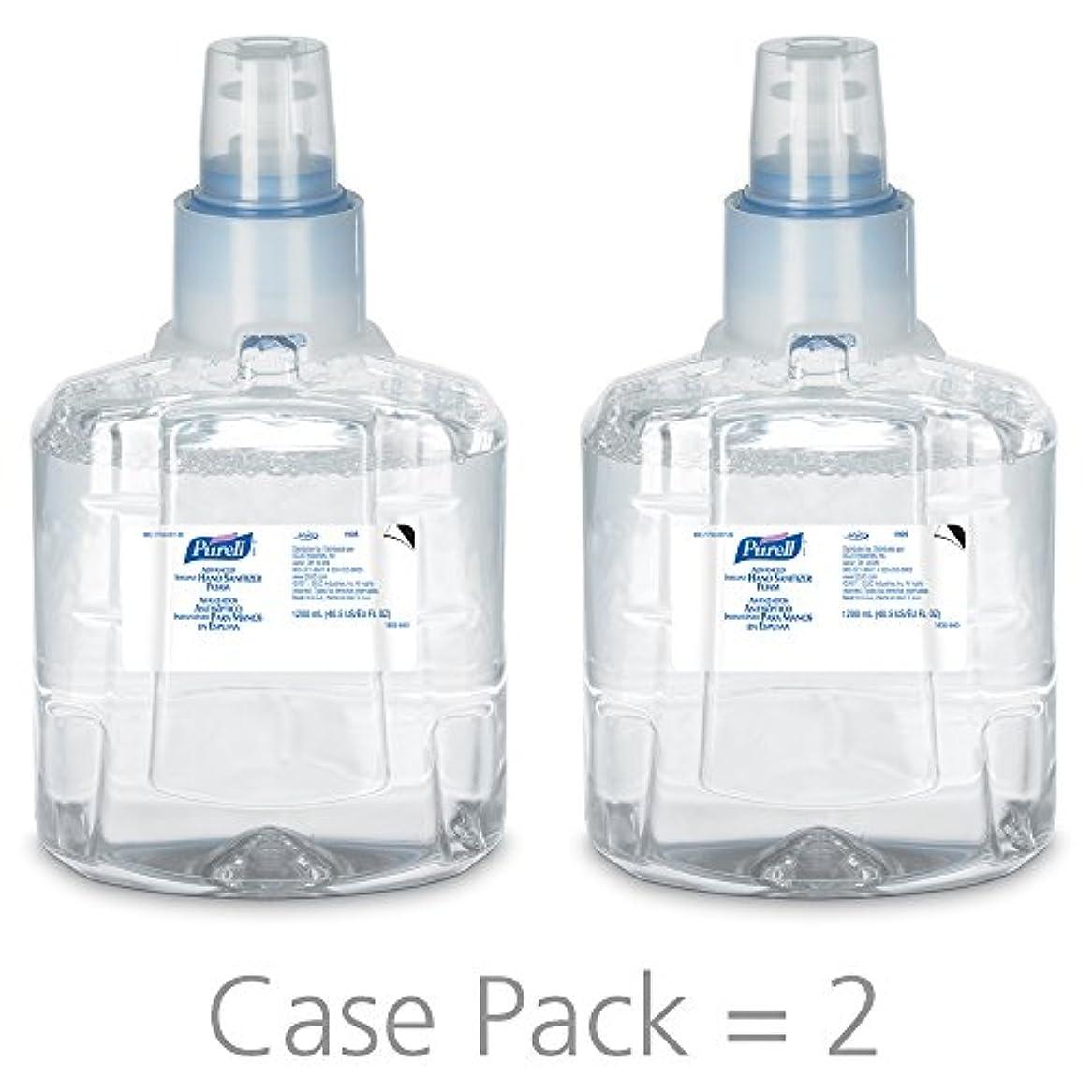失うタンク例示するPURELL 1905-02 1200 mL Advanced Hand Sanitizer Foam, LTX-12 Refill (Pack of 2) by Purell