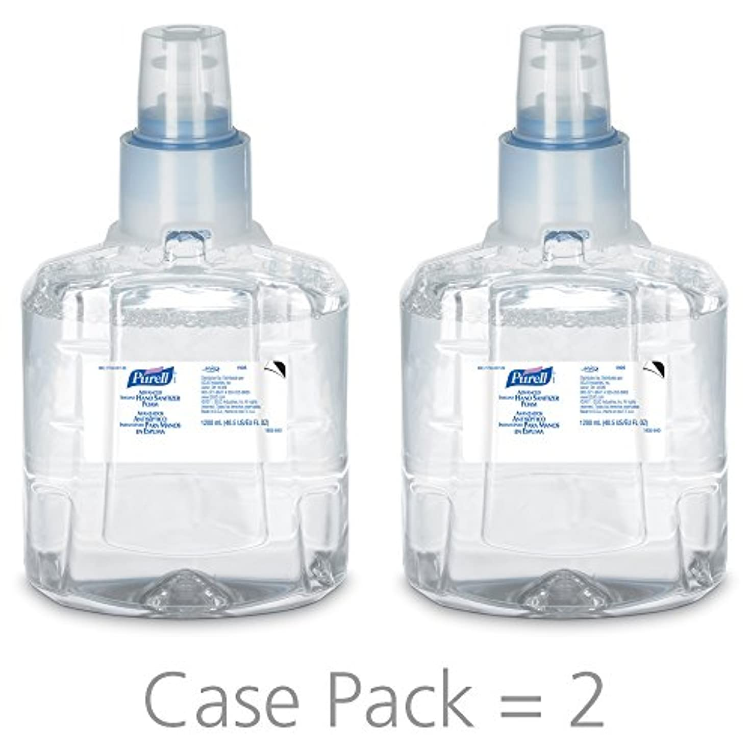 モンキーやさしく強盗PURELL 1905-02 1200 mL Advanced Hand Sanitizer Foam, LTX-12 Refill (Pack of 2) by Purell