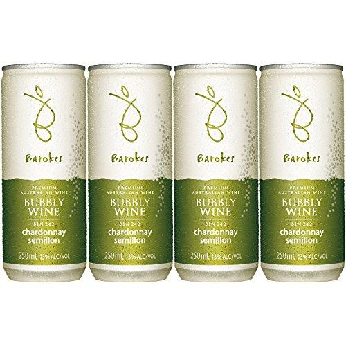 バロークス プレミアム スパークリング 缶ワイン 白 250ml×4缶