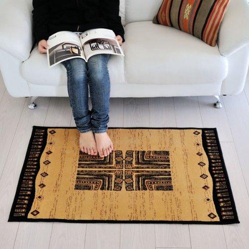 なかね家具 ベルギー製 玄関マット 荘厳なアフリカの大地 デザインマット ベージュ 60×100 msi6 012masa