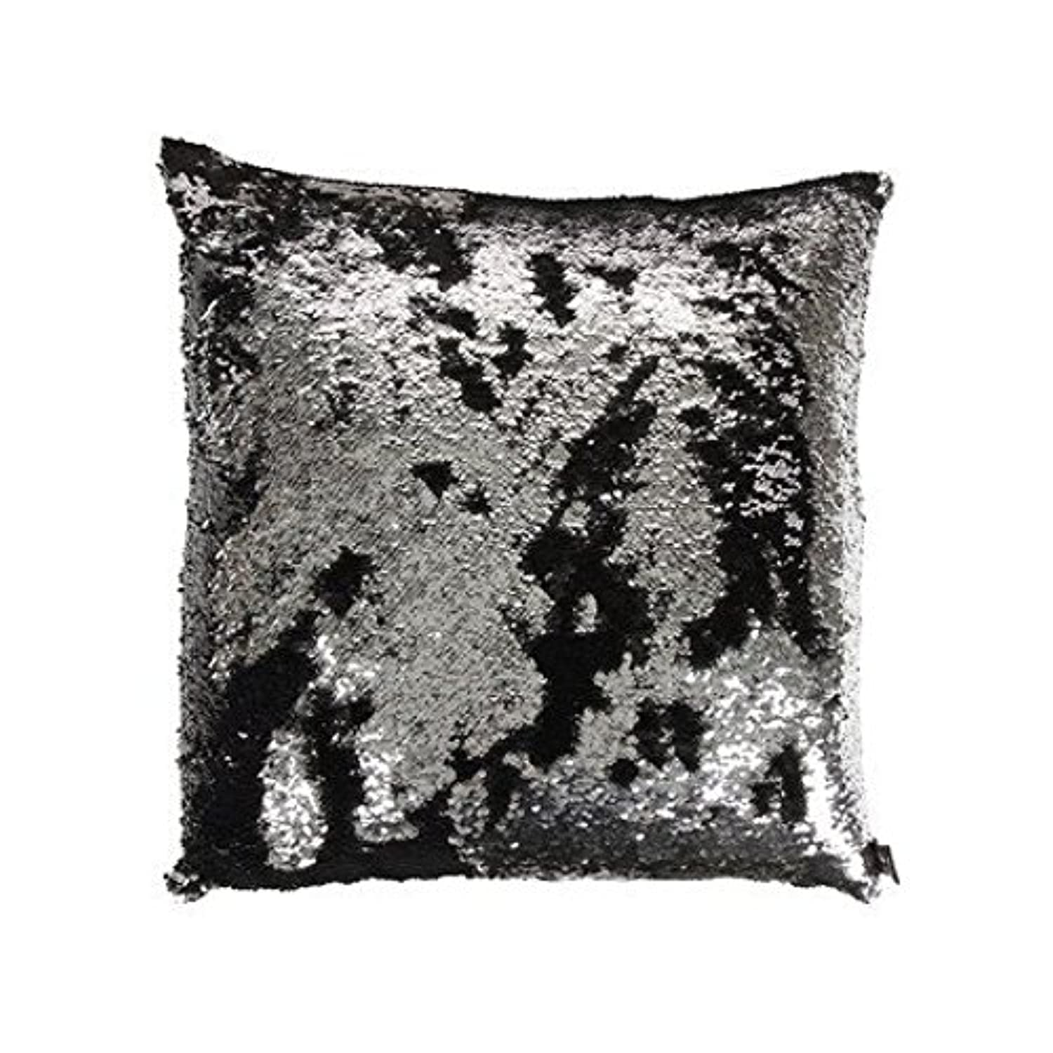 [ねとらぼ Pillowcover]Netlab-Pillowcover 18 Inch Doubleface Two Tone Sequins Mermaid Europe Luxurious Pillow Cover [並行輸入品]
