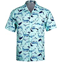 APTRO Men's Hawaiian Shirt Short Sleeve Summer Casual Beach Flower Shirt