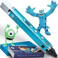 子供のための3Dペン - 女の子の男の子のための3D印刷ペンセットキット男の子十代の若者たち - 3Dデッサンペンシル - PLA ABS - ディスプレイ付きオリジナル - 芸術のためのかわいいギフトボックス - 最高のミニメタル3dペンスターターパックケース