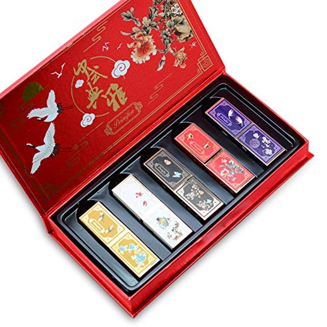 電気のフロンティアスーツBalai 紫禁城スタイルの口紅セット 防水 ノンスティックカップ長持ち口紅 キット 5種類の口紅