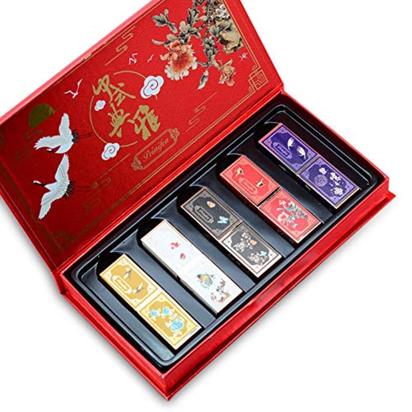 力学きれいにショットBalai 紫禁城スタイルの口紅セット 防水 ノンスティックカップ長持ち口紅 キット 5種類の口紅